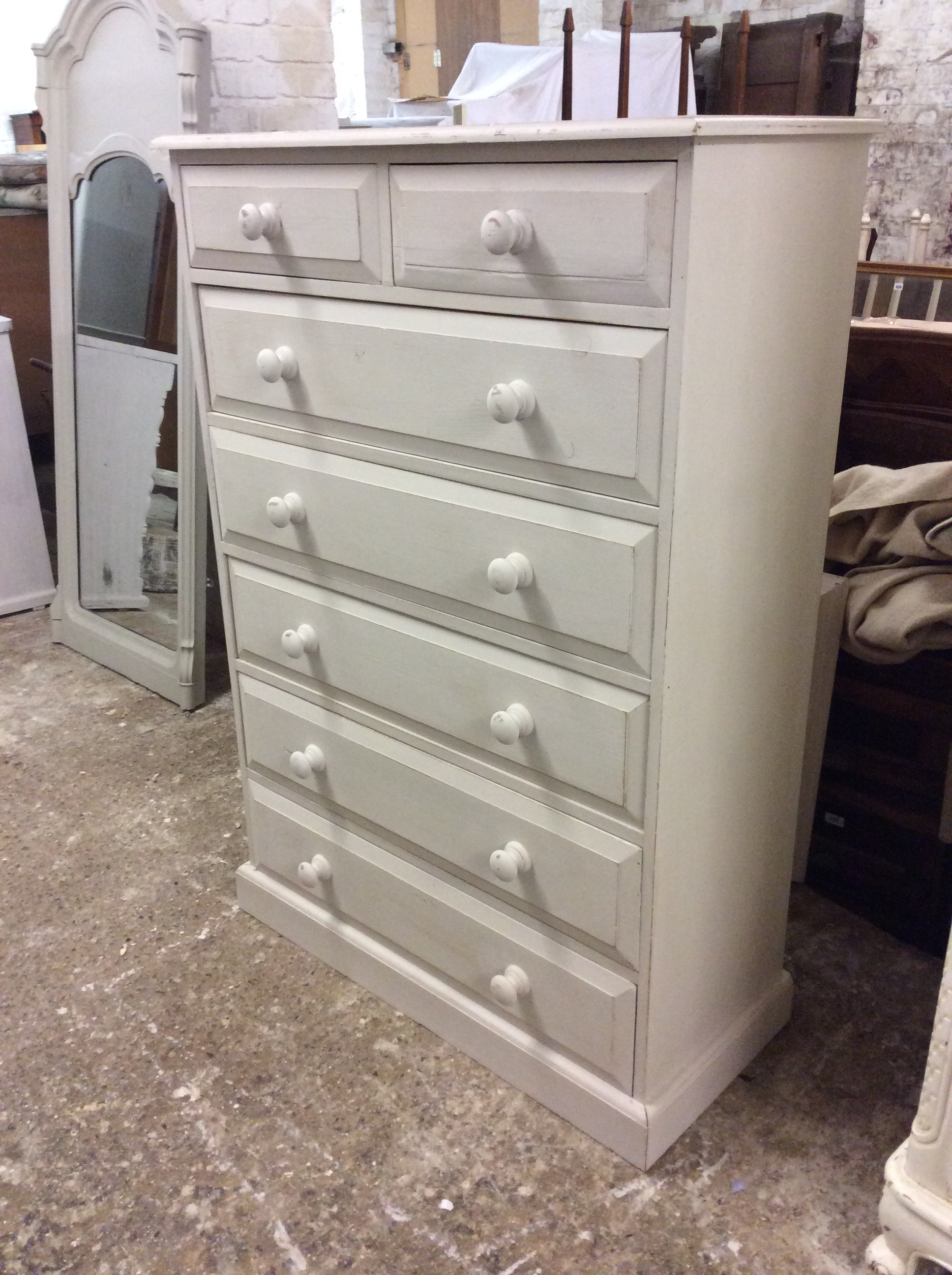 C Tall7 Drawer Chest Of Drawers , One For Each Day Of The Week.  H.132,w.91,d.41. £165